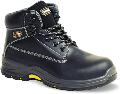 Holton Safety Boot - Black Smooth