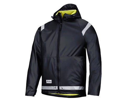 Snickers 8200 Rain Jacket, PU Black - SALE (Whilst Stocks Last)