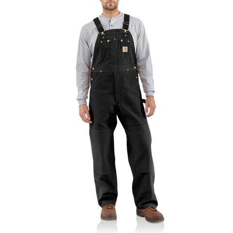 "Carhartt Duck Bib Overall Black - 30""30 SALE (Last Pair)"