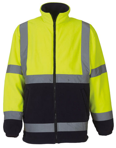 YK042 Hi-vis heavyweight fleece jacket (HVK08)