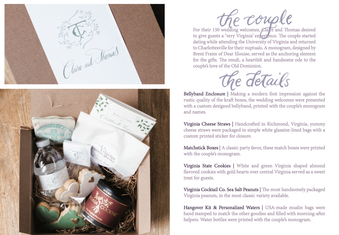 Wedding Welcome Bags By House Of Floralie In Richmond Virginia
