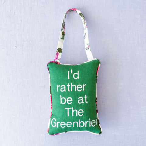 I'd Rather Be At The Greenbrier Door Pillow