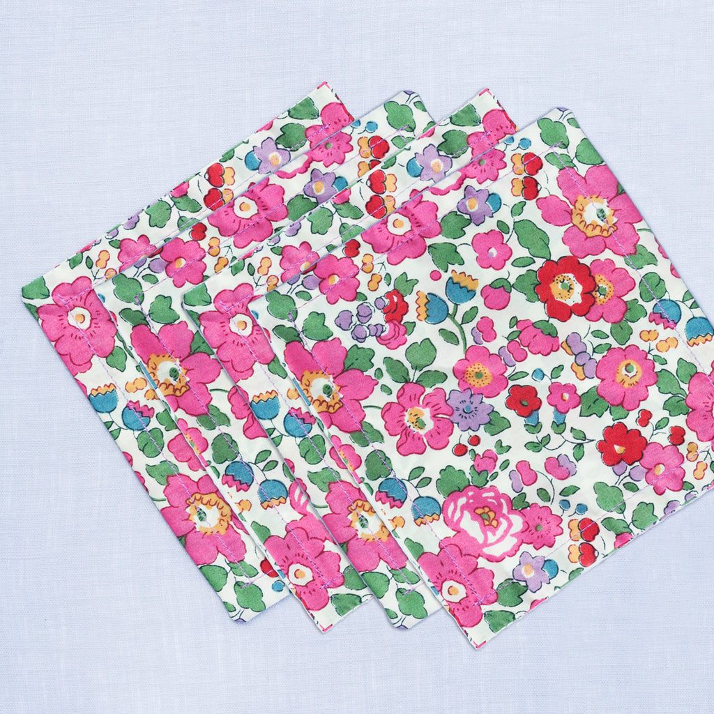 Liberty London Betsy Pink Cocktail Napkins