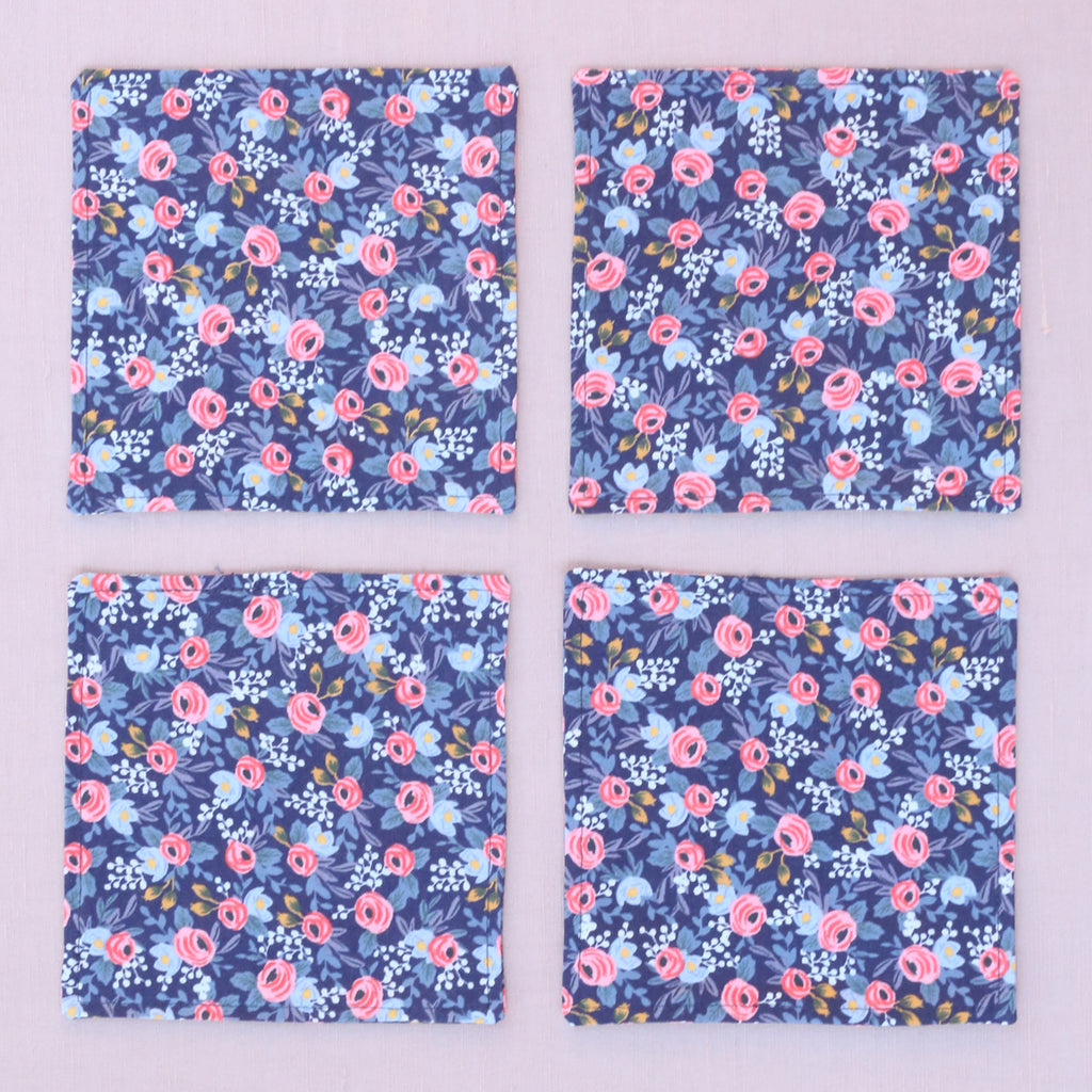 Rifle Paper Navy Rosa Floral Cocktail Napkins
