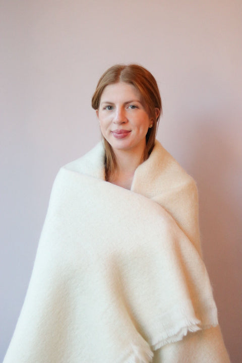 Clear Irish Mohair Throw