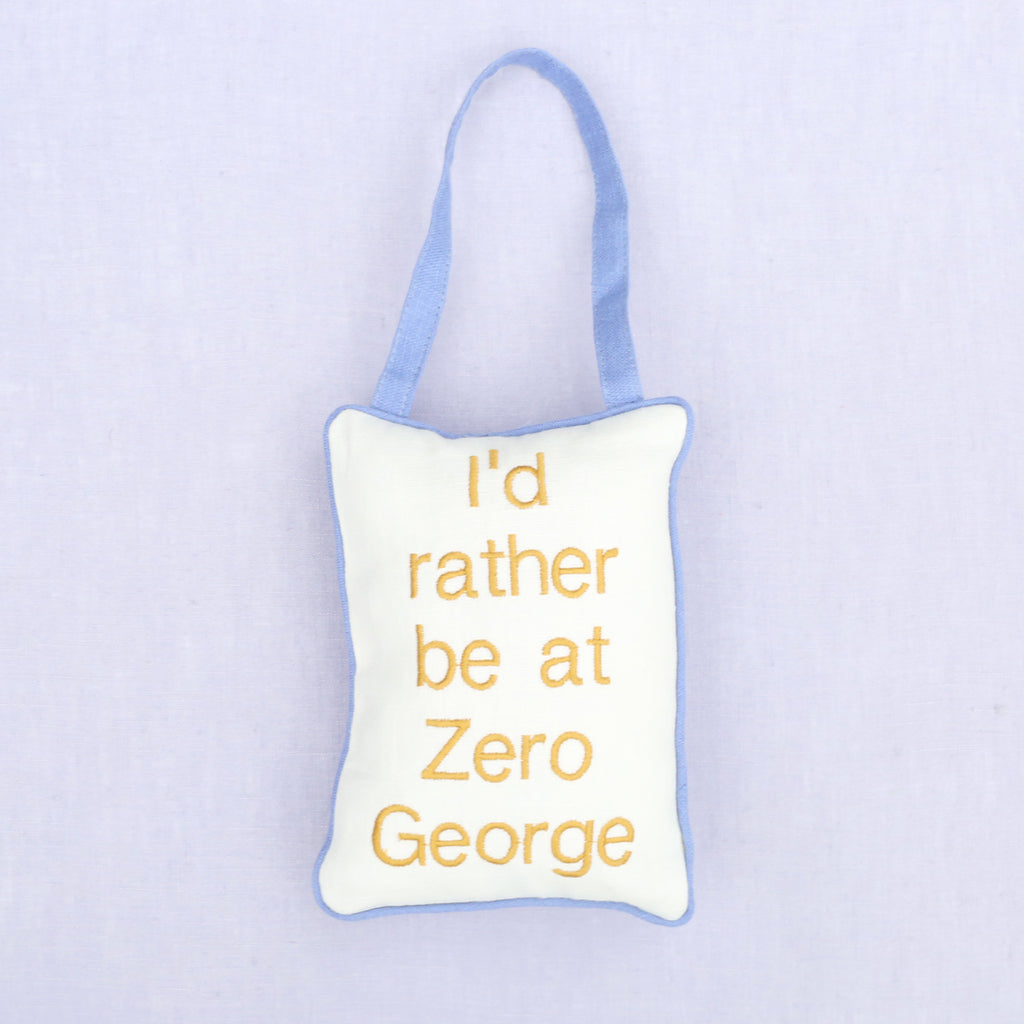 I'd Rather Be At Zero George Door Pillow
