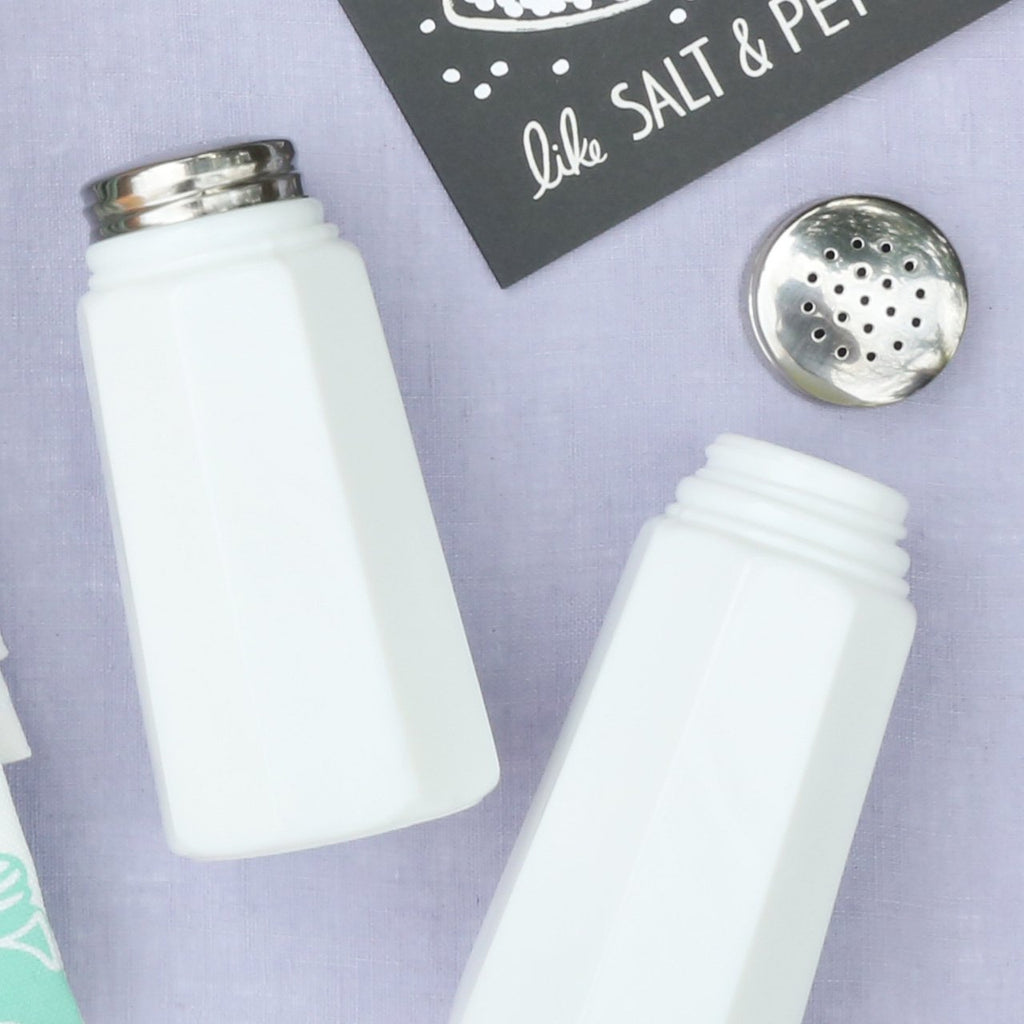 Milk Glass Heirloom Salt & Pepper Shakers