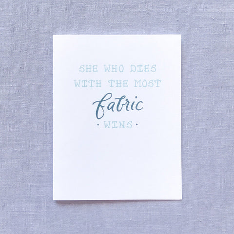 Fabric Lover Card