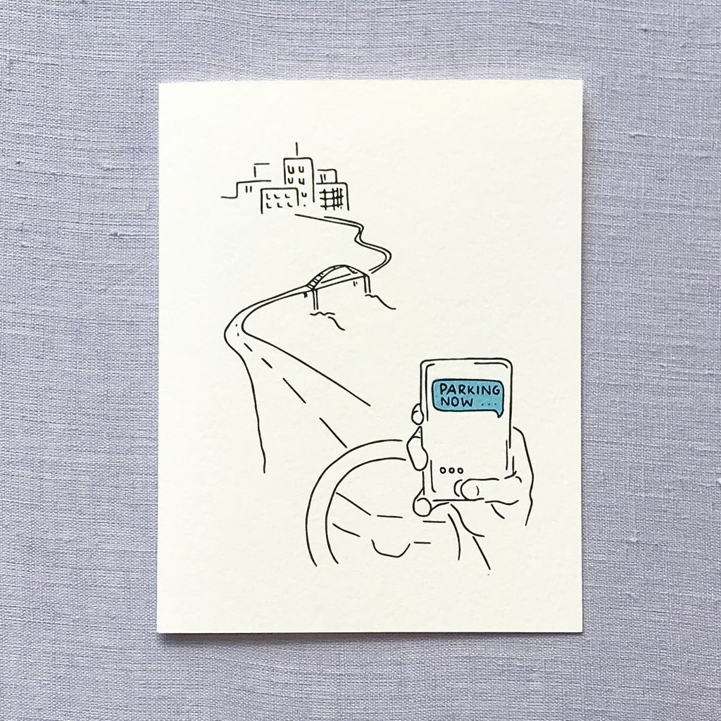 Parking Now Greeting Card