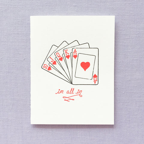 I'm All In Card