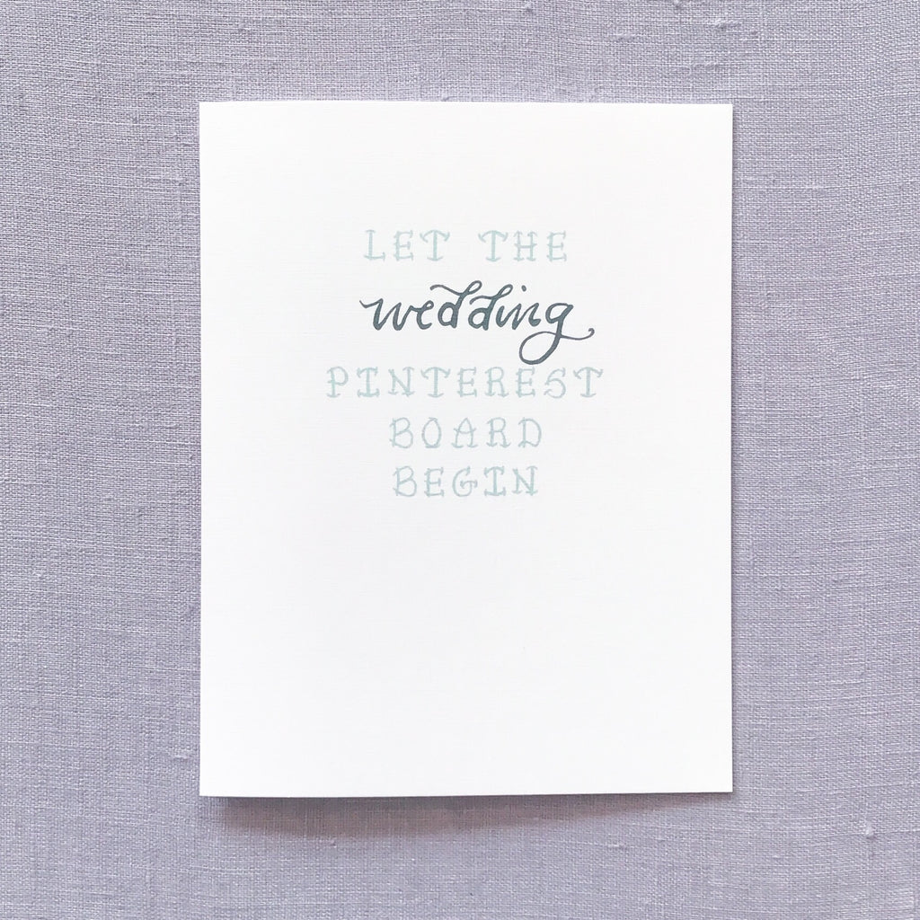 Wedding Pinterest Board Card