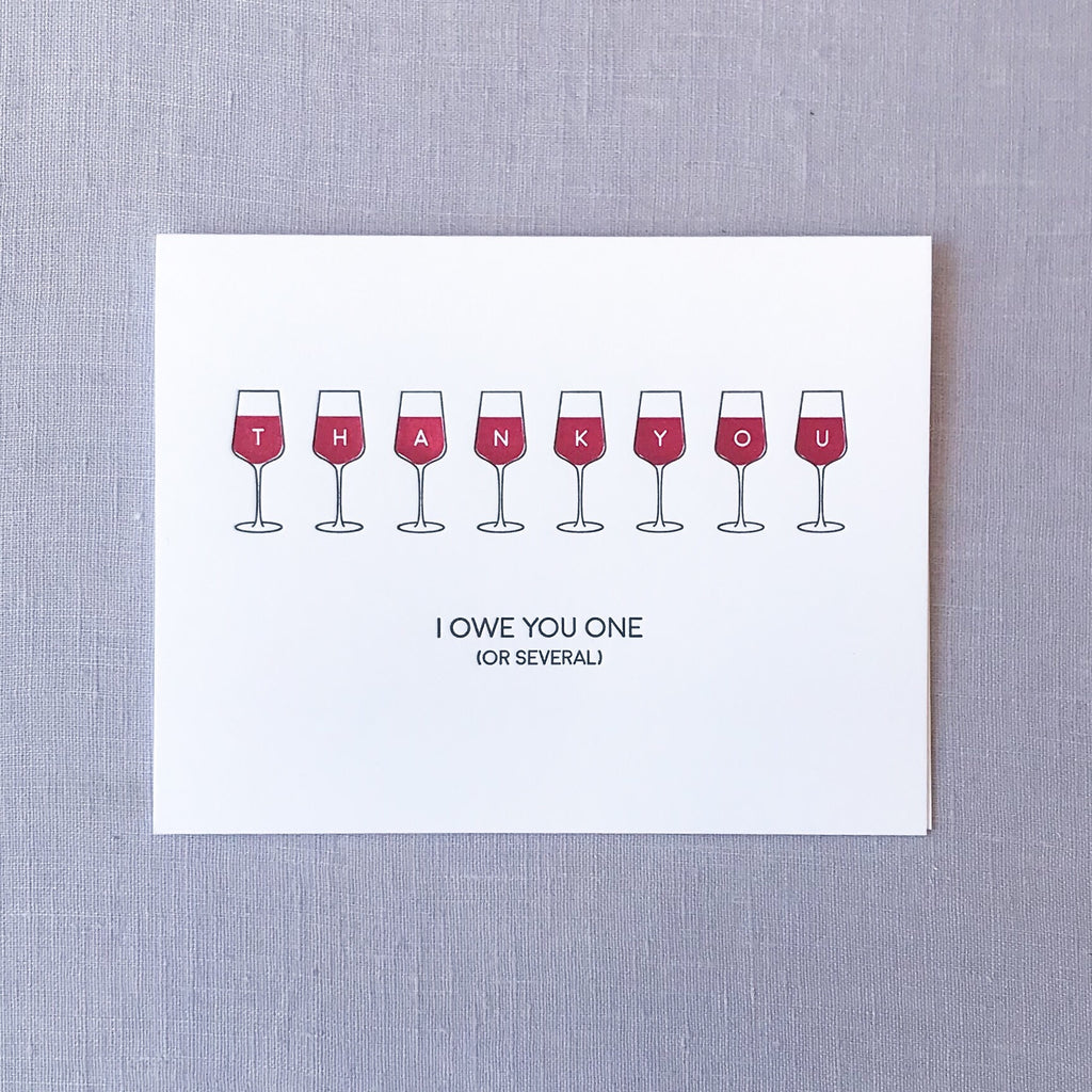 Wine Thank You Card