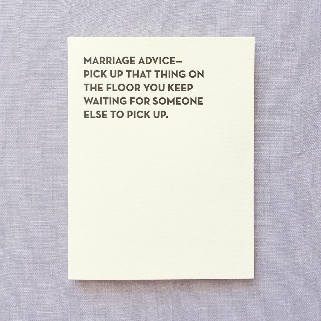 Marriage Advice Card (#901)