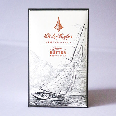 Brown Butter Nibs & Sea Salt Chocolate bar