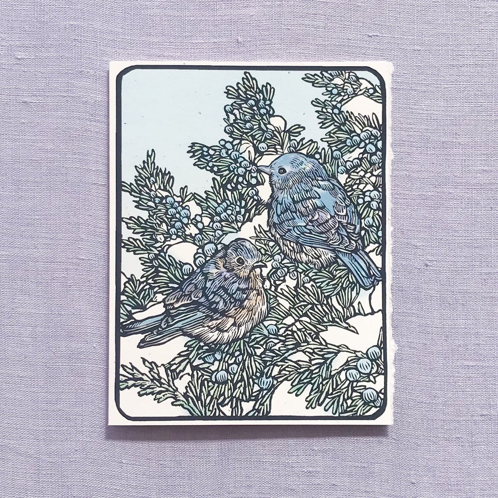 Blue Birds Card