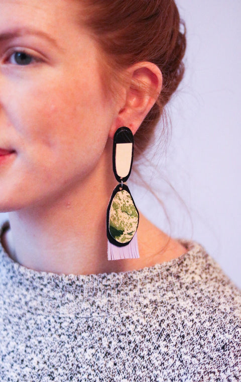 Adele Leather Earrings