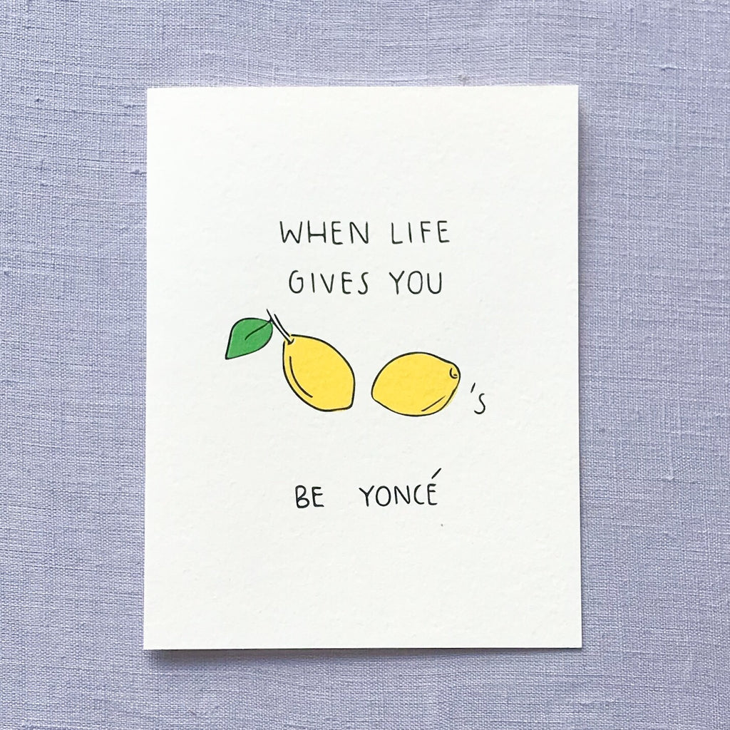 Lemonade Beyoncé Card