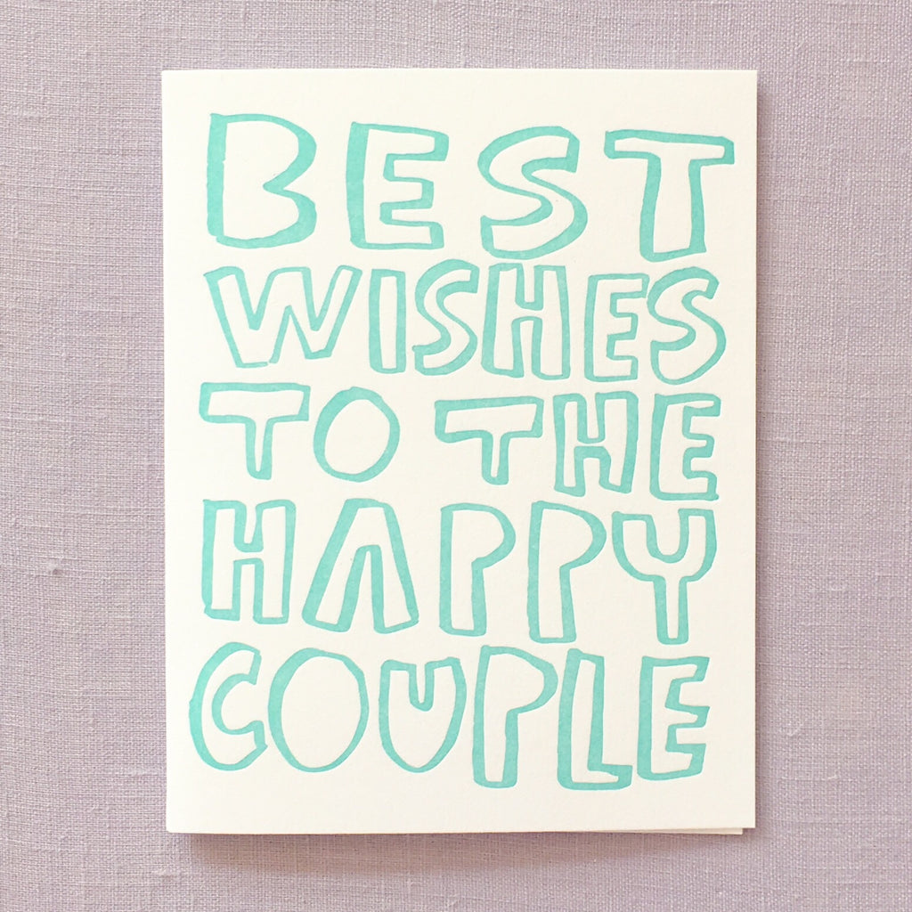 Best Wishes to the Happy Couple Card