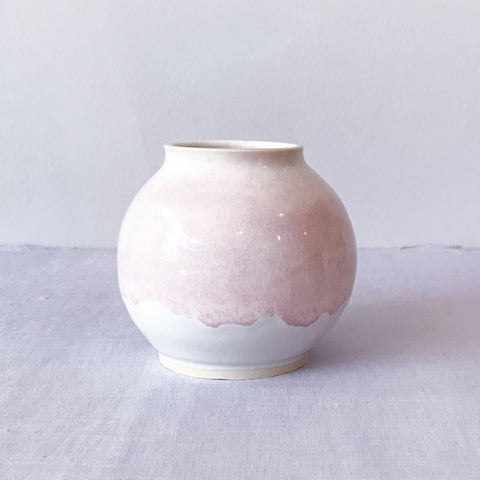 Light Pink & White Flower Vase