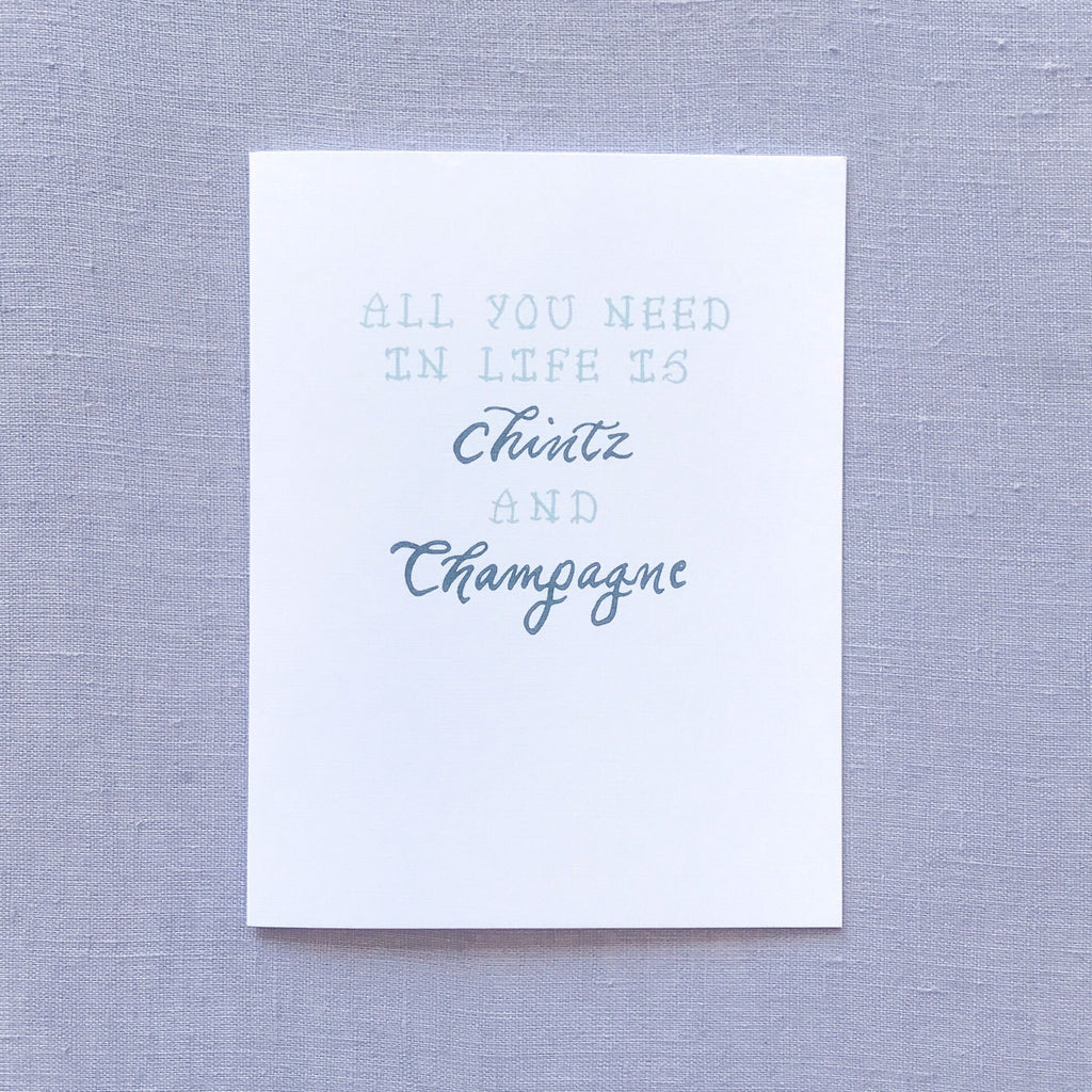 Chintz Champagne Card