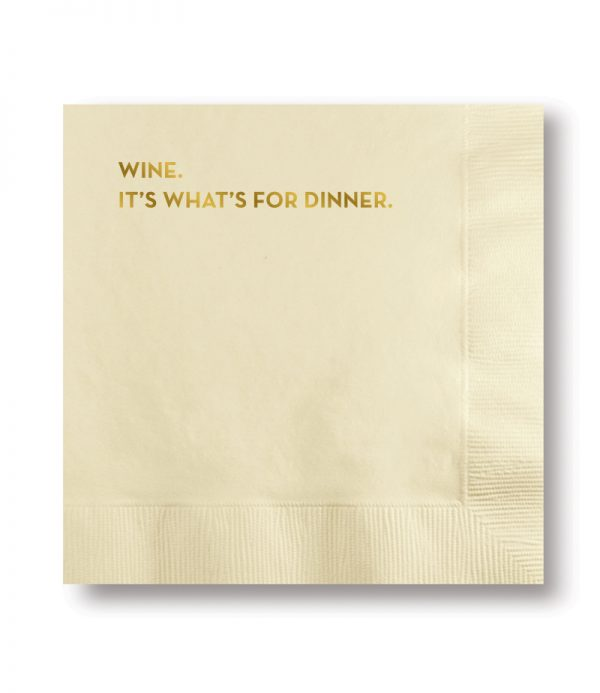Wine For Dinner Napkins (#581)