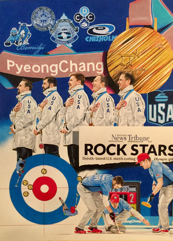 "ARTIST PROOF- USA GOLD MEDAL Tim Cortes Print (19""X 27"")"