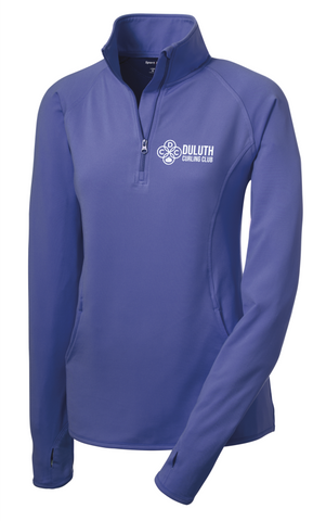 LST850 Sport-Tek® Ladies Sport-Wick® Stretch 1/2-Zip Pullover with embroidered logo