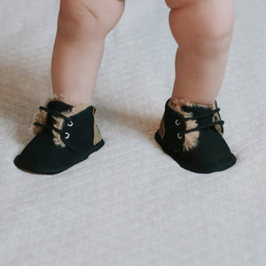 baby fur boot moccasins