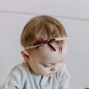 "1/4"" Velvet Bow in Plum"