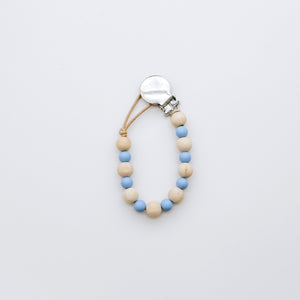 Teething Pacifier Clip in Blue