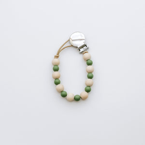 Teething Pacifier Clip in Green