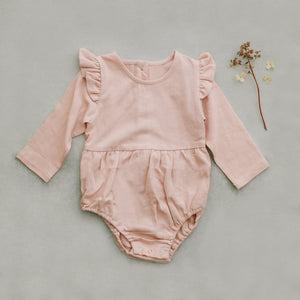 Blush pink romper/onsie for little girls