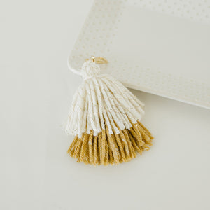 Double Tassel Keychain in Ochre