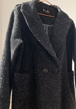 Claudine Boucle Coat with Leather Covered Buttons