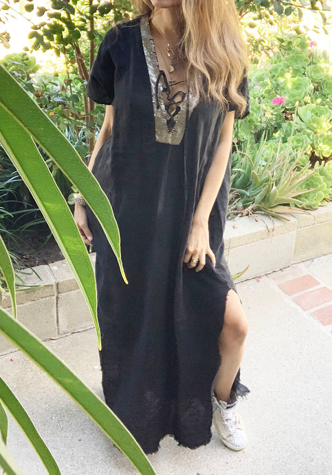 Janice Tall Tunic Dress Hand Dyed Slit Dress ONLINE EXCLUSIVE
