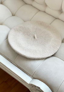 Coco Wool French Beret in Ivory ONLINE EXCLUSIVE