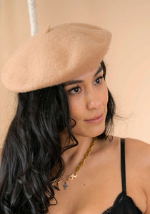 Coco Wool French Beret in Oatmeal ONLINE EXCLUSIVE