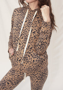 "Loulou Leopard Hoodie ""Back in Stock""ONLINE EXCLUSIVE"