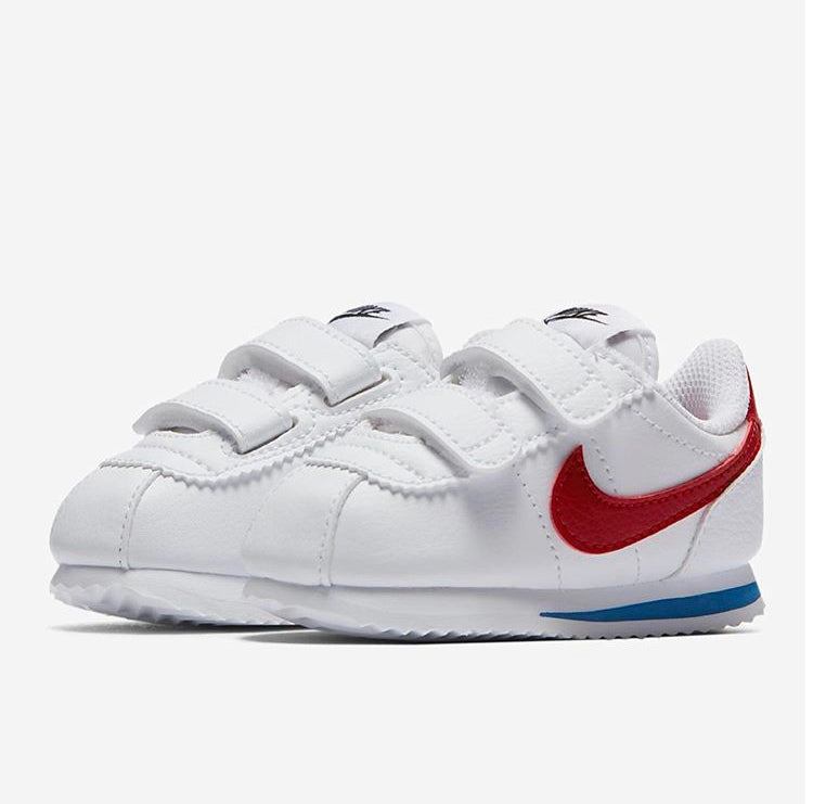 toddler nike cortez (white/red)