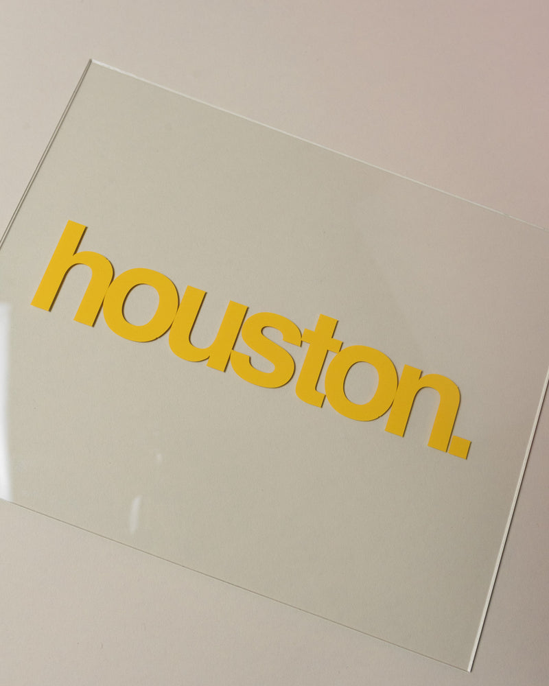 Load image into Gallery viewer, houston. decal (yellow)