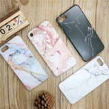Luxury Marble Stone Pattern Silicone iPhone Case
