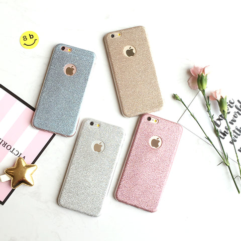 Ultra-Thin Glitter Back Skin Cover for iPhone