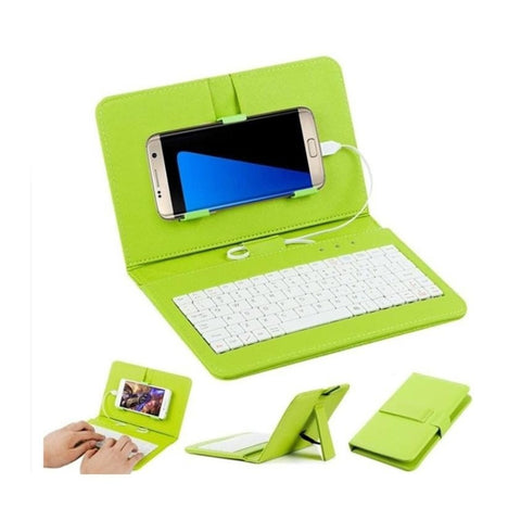 Wired Keyboard Flip Holster Case For Andriod Mobile Phone