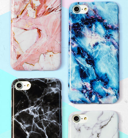 Colored Marble Case for iPhone
