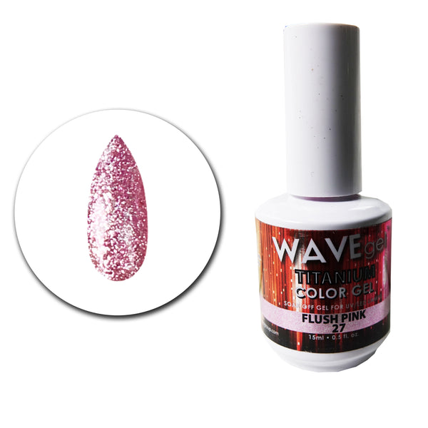 WAVEGEL Titanium Gel # 27 Flush Pink