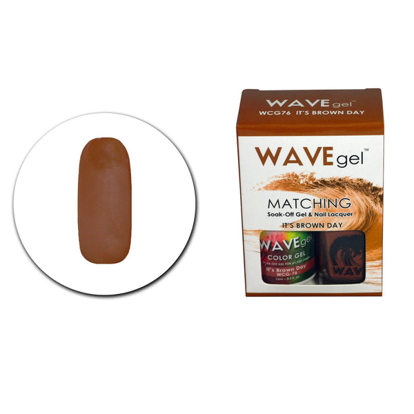 WAVEGEL MATCHING (#076) WCG76 IT'S BROWN DAY