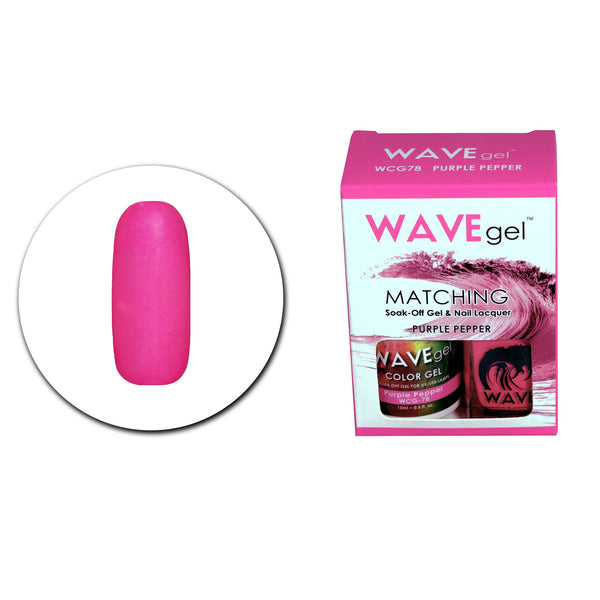 WAVEGEL MATCHING (#078) WCG78 PURPLE PEPPER