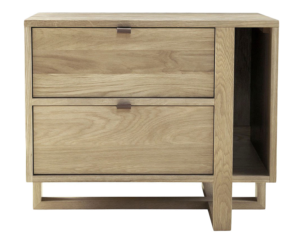 Sand | West Bros Fulton 2 Drawer Nightstand
