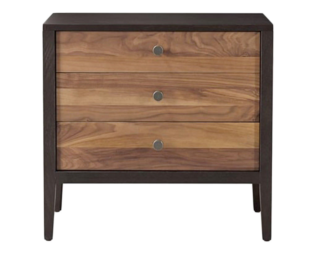 Carbon with Walnut Stripe | West Bros Hayden Bedside Chest