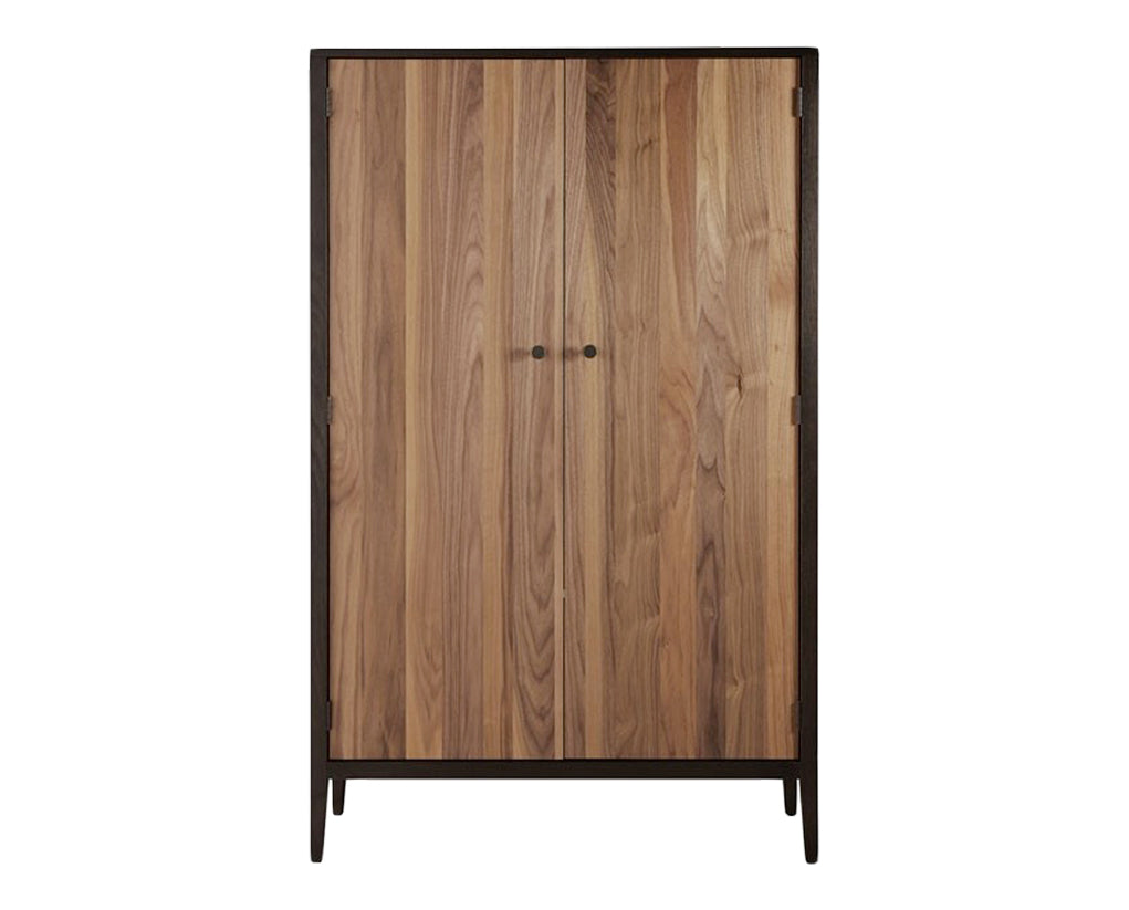 Carbon with Walnut Stripe | West Bros Hayden Door Cabinet